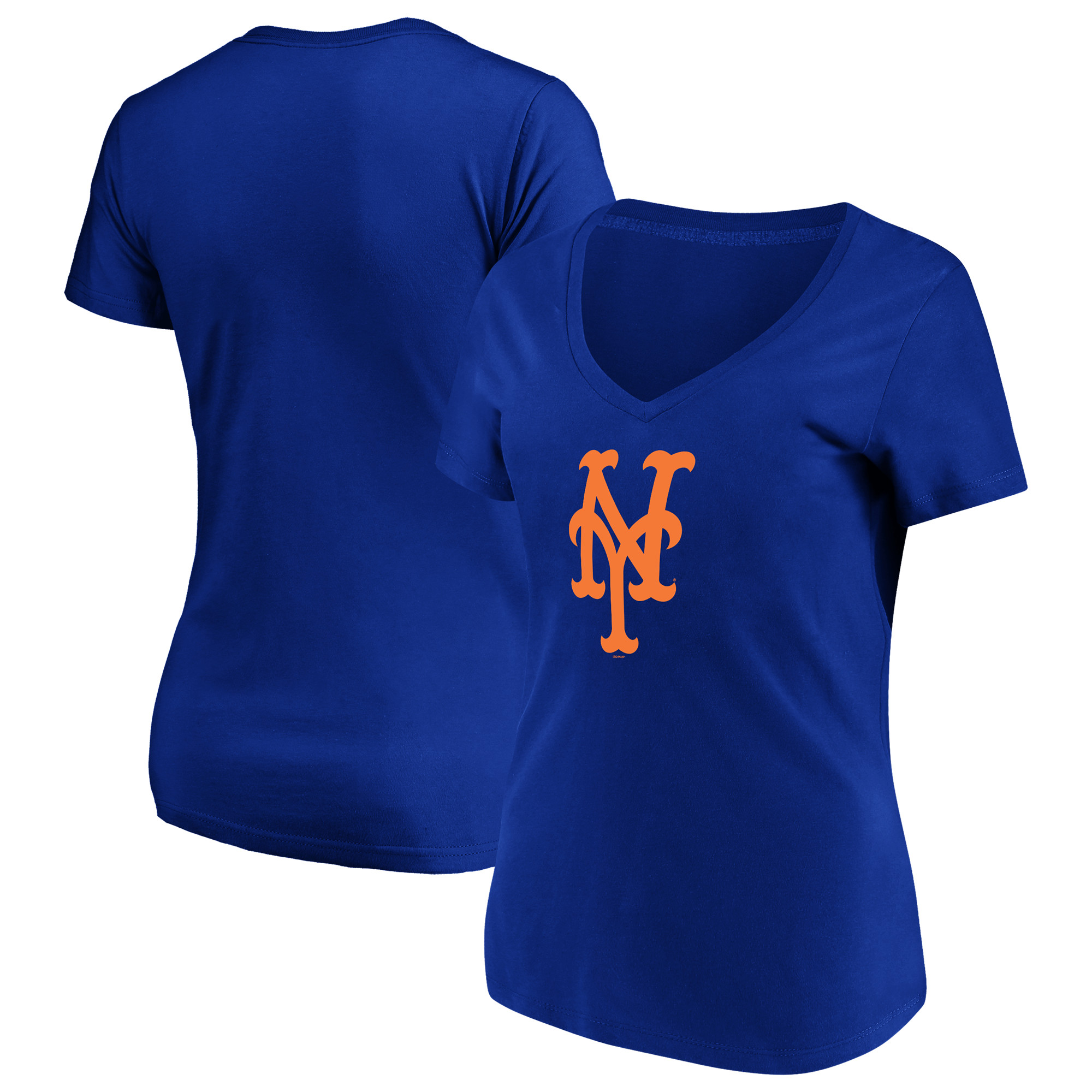 Women's Majestic Royal New York Mets Top Ranking V-Neck T-Shirt
