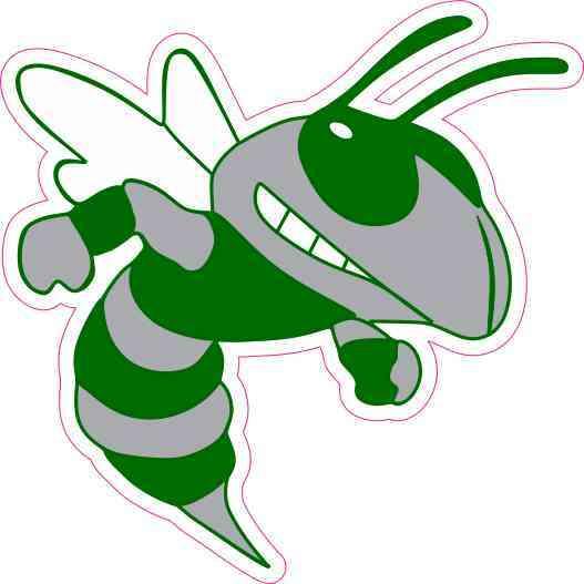 3 5in X 3 5in Hornet Mascot Bumper Sticker Decal Window Stickers