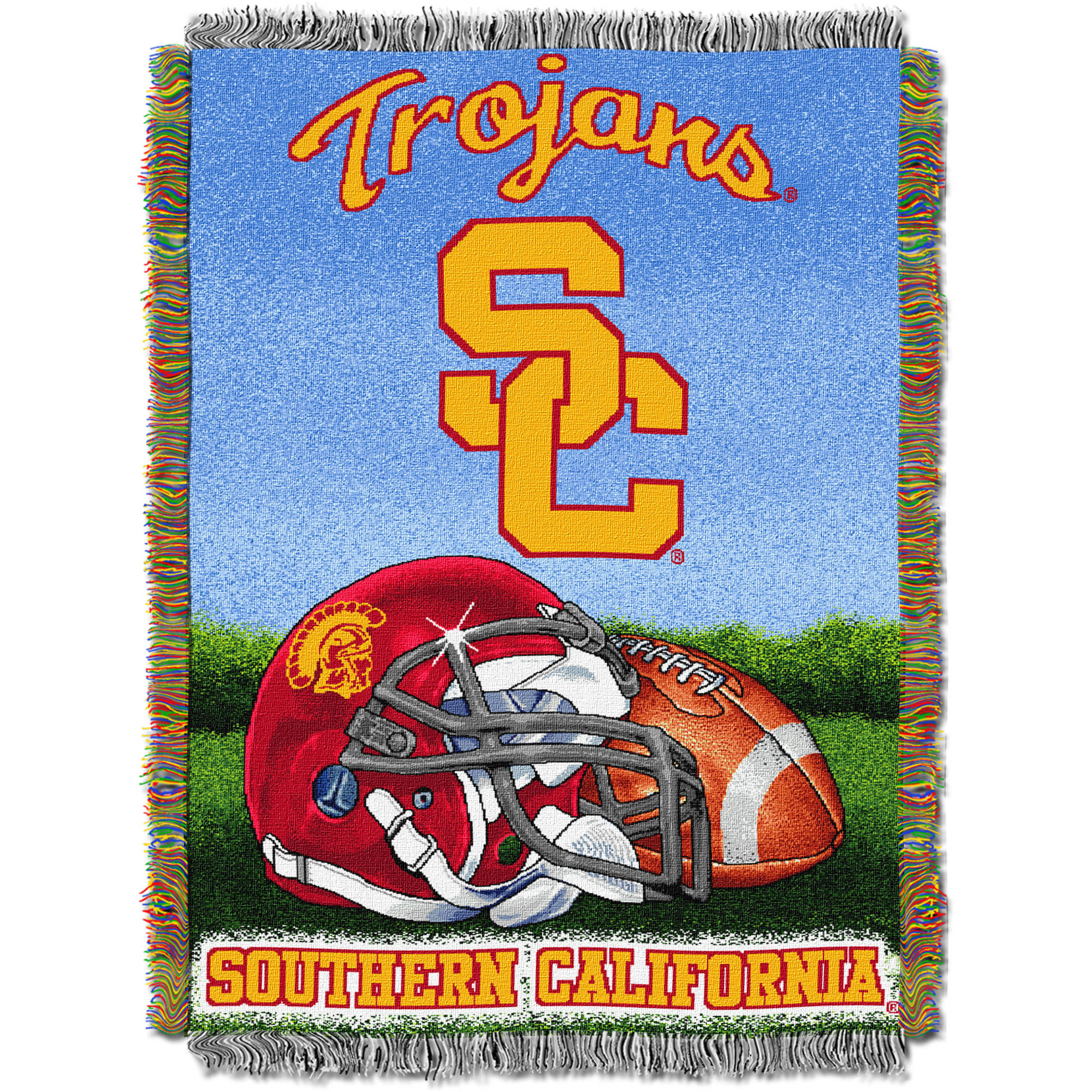 "NCAA 48"" x 60"" Tapestry Throw Home Field Advantage Series- USC"