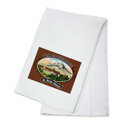 Timberline Lodge - Mt. Hood, Oregon - Oval Spring Design (100% Cotton Kitchen (Timberline Lodge Mt Hood Oregon)