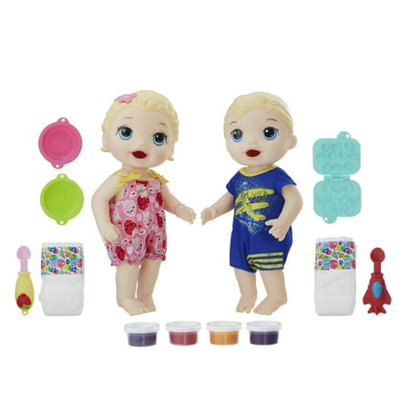 Baby Alive Snackin' Twins Luke and Lily-Blonde Hair - Boy Girl Twin Baby Halloween Costumes