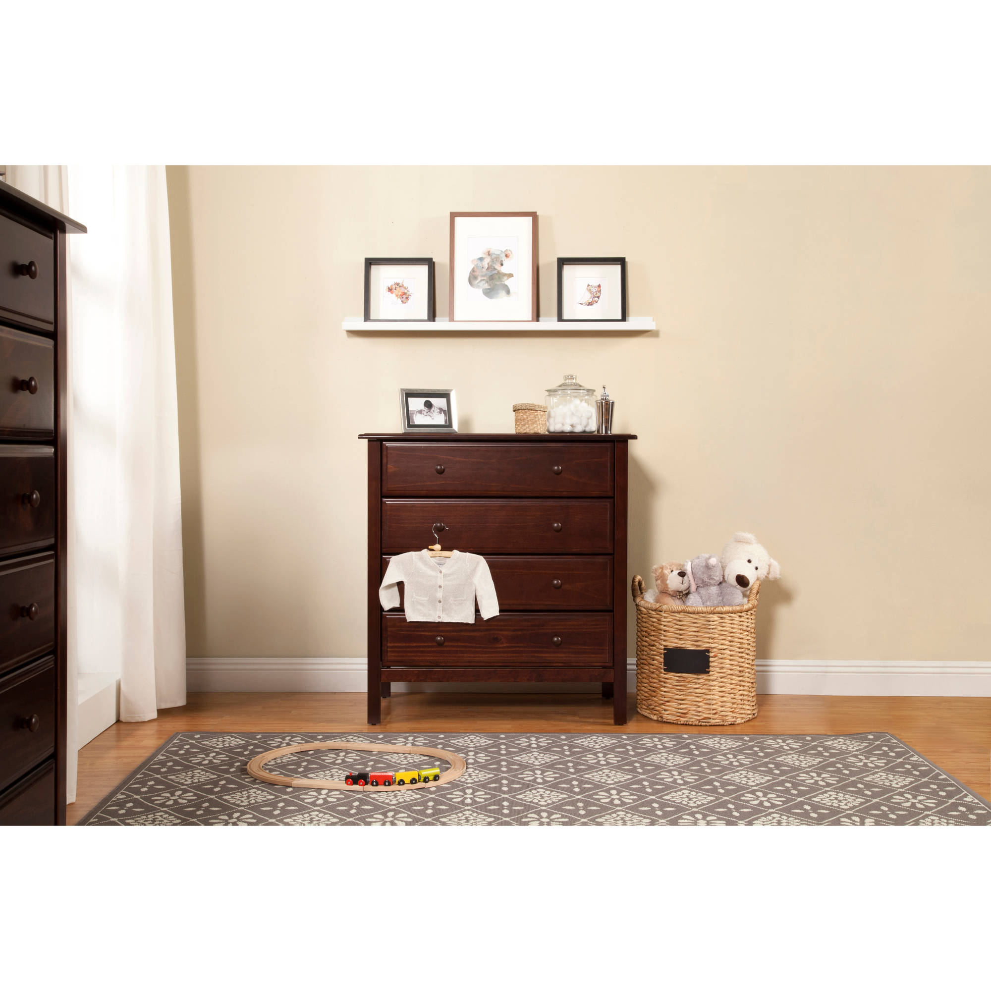 DaVinci Jayden - 4-Drawer Dresser, Choose Your Finish