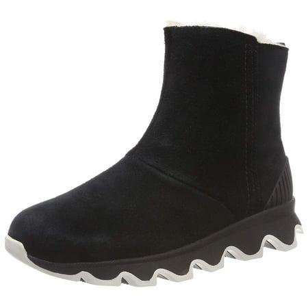 575c5c33624e4 SOREL Women's Kinetic Short Booties, Black/Sea Salt, 7 M US