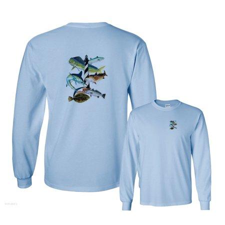 Cape Hatteras Lighthouse North Carolina Fishing Long Sleeve T-Shirt](Halloween North Carolina)