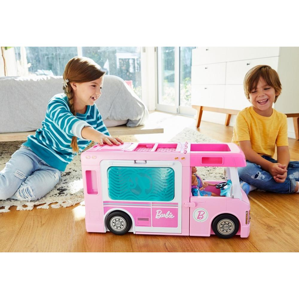 Truck Boat And Accessories ! Barbie Estate 3-In-1 Dreamcamper Vehicle With Pool