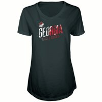 f81f32de691 Product Image Women s Russell Black Georgia Bulldogs Tunic Cap Sleeve  V-Neck T-Shirt