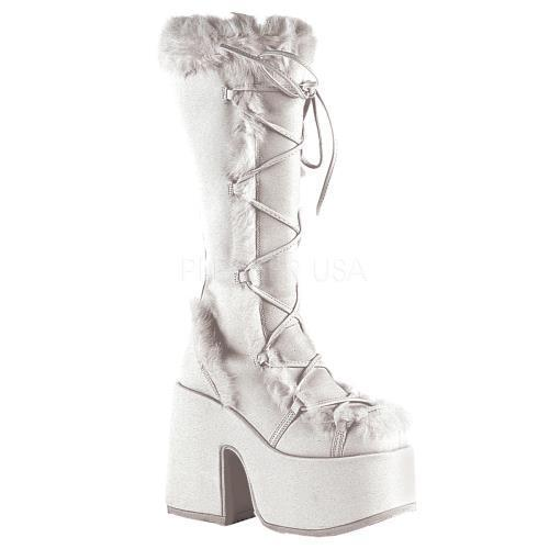 CAM311 W PU Demonia Platform Sandals & Shoes Womens WHITE Size: 6 by