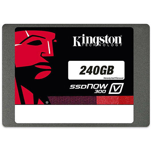 "Kingston Digital 240GB SSDNow V300 2.5"" Solid State Drive with Adapter"