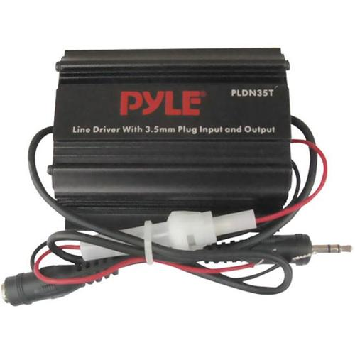 Pyle PLDN35T 3.5mm / 1/8'' To 3.5mm / 1/8'' Stereo Audio Ground Loop Isolator/ Audio Line Driver