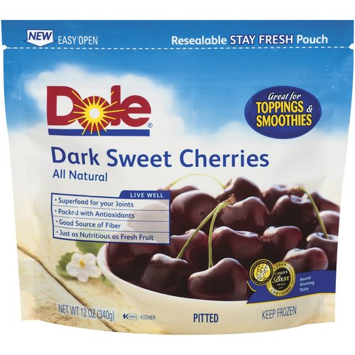Dole Dark Sweet Cherries, 12 oz
