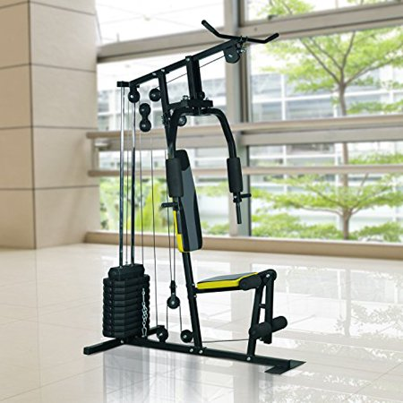 Soozier 100 Lb Stack Home Gym Equipment Machine