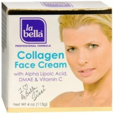 collagène Crème pour le visage avec l'acide alpha lipoïque [Crema De Colageno] (4 oz pack de 3)