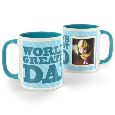 Light Blue Photo Mug 11 oz