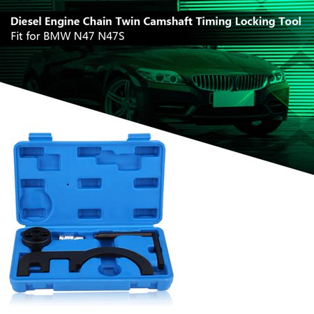 Hilitand 4Pcs Diesel Engine Chain Twin Camshaft Timing Locking Tool for BMW N47 (Bmw 2 Litre Diesel Engine Timing Chain)