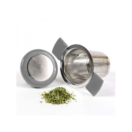 Topumt Stainless Steel Tea Strainer Tea Filter With Lid and Handle Tea Leak Tea Maker (Filter Lid)
