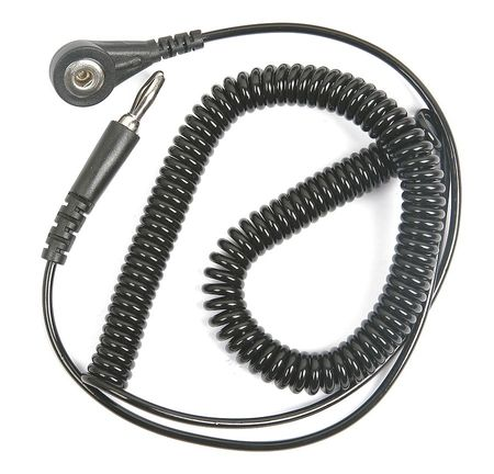 Static Control Cord, Straight,10 ft. 4ECV5