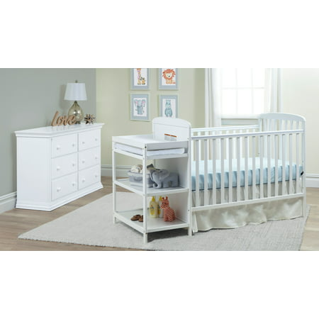 Suite Bebe - Ramsey 3-in-1 Convertible Crib and Changer Combo in White ()