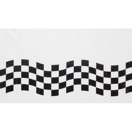Club Pack of 12 Black and White Checkered Disposable Banquet Party Table Cloth Covers 102