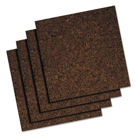 - Universal Office Products 43403 12 x 12 in. Cork Tile Panels, Dark Brown - 4 per Pack