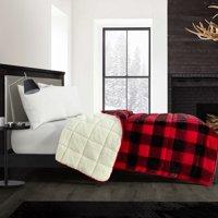 Dearfoams Super Soft Red Buffalo Plaid Weighted Blanket 12 lbs