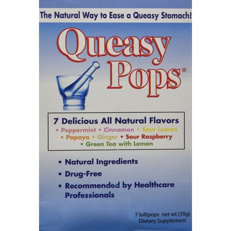 - Queasy Pops - Assorted - 7 Lollipops Pack, Drug Free, 0313429 By Three Lollies Ship from US Three Lollies Queasy Pops