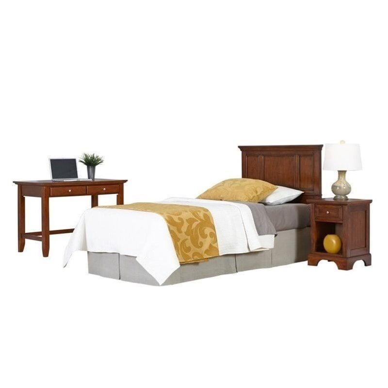 Hawthorne Collections 3 Piece Twin Panel Headboard Bedroom Set