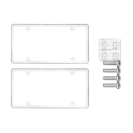 Cruiser Accessories 21010 Stainless Steel Elite License Plate Frame Bundle with Standard Fasteners for Domestic Vehicles (3 (License Bundle)
