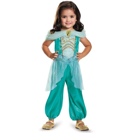 Disney Princess Jasmine Classic Child Halloween Costume, Small (4-6) (Jazmine Costume)