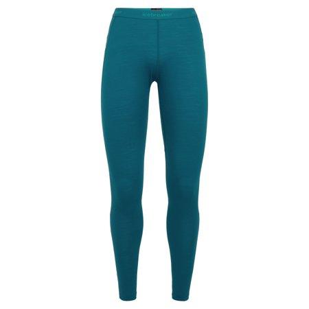 Icebreaker Women's Merino BodyfitZone 150 Zone Leggings Kingfisher/Arctic Teal - Womens Sale Icebreaker