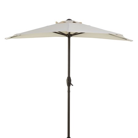 Mainstays Hillwood 7' Half-Round Patio Umbrella Only $32.99