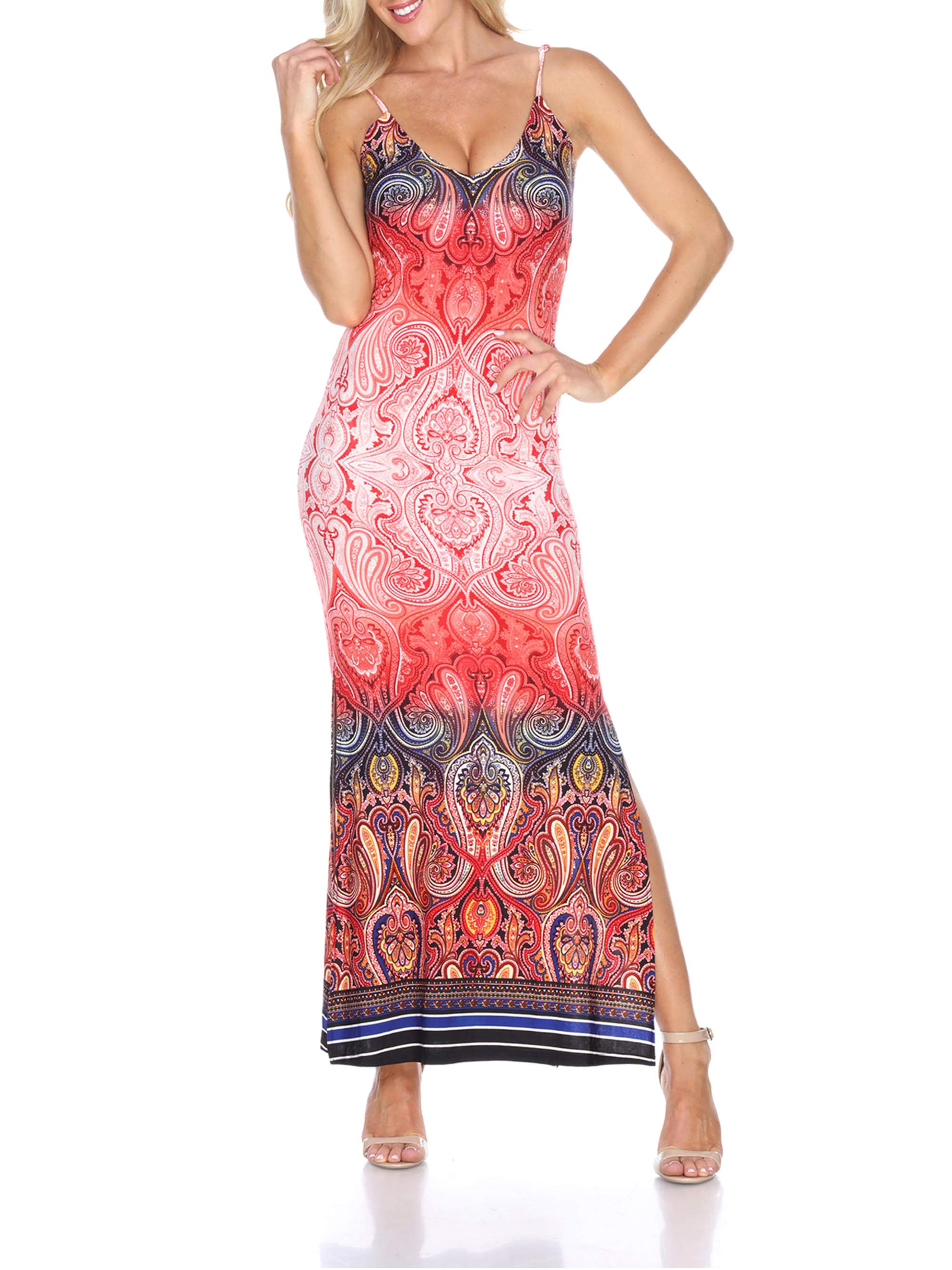 Women's Paisley Printed Nila Maxi Dress