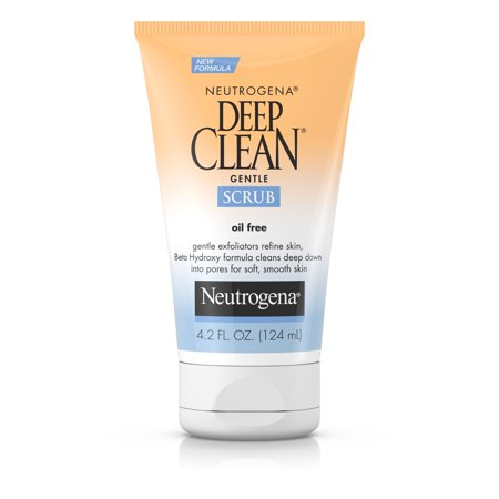 Neutrogena Deep Clean Gentle Facial Scrub, Oil free Cleanser 4.2 fl. oz