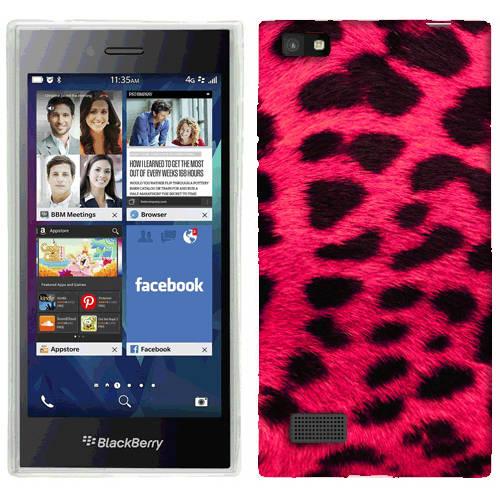 Mundaze Hot Pink Leopard Phone Case Cover for BlackBerry Leap