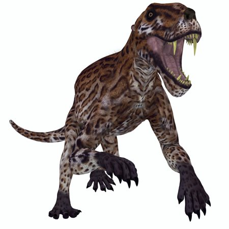 A Fierce Lycaenops Roaring Lycaenops Was A Carnivorous Mammal Like Reptile That Lived In South Africa During The Permian Period Poster Print