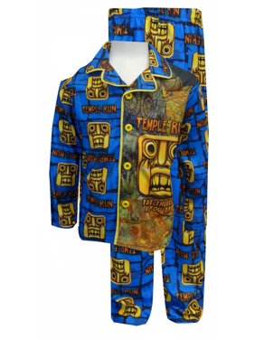 c9179acc9 Product Image Temple Run Blue Button Front Pajamas. Komar Kids