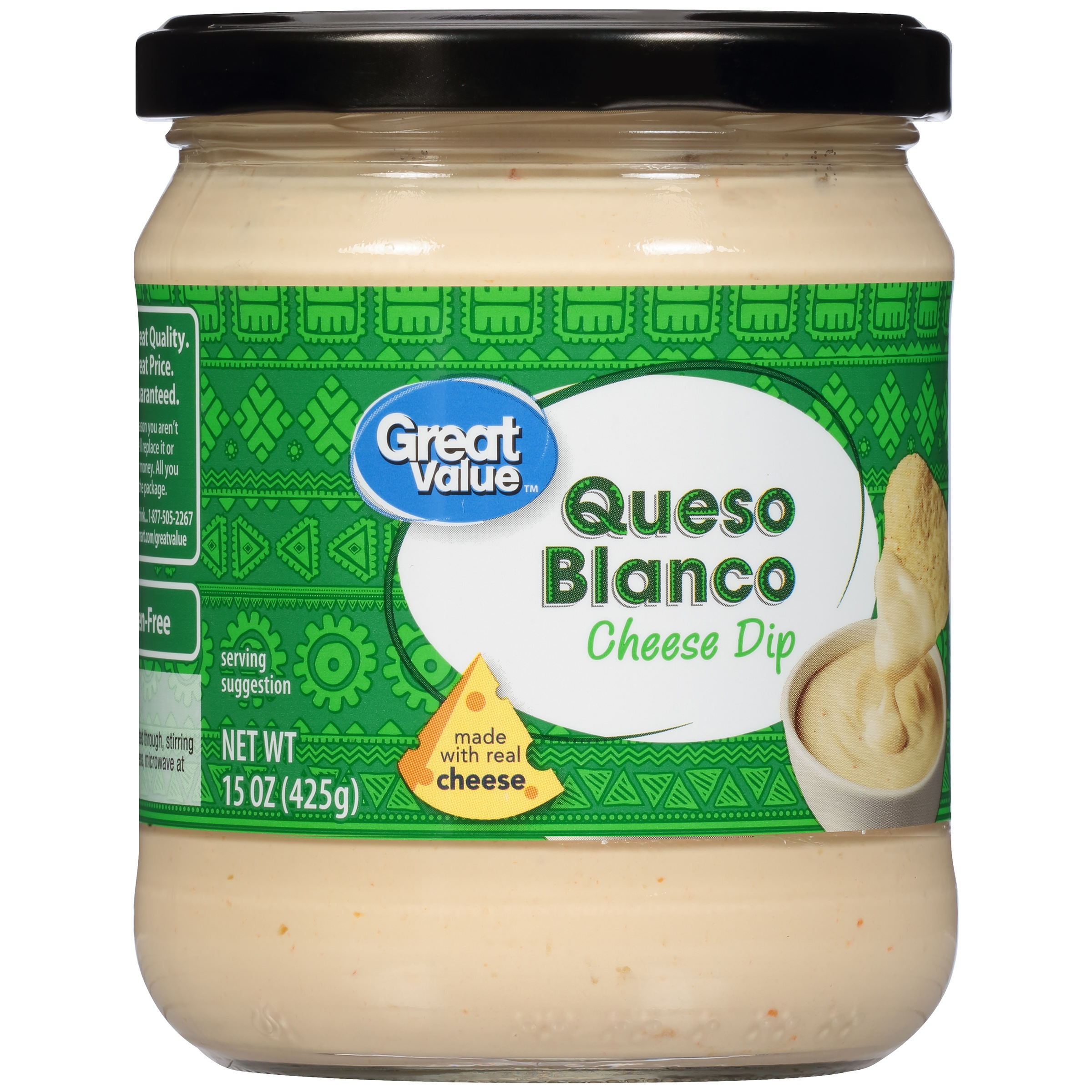 Great Value Queso Blanco Cheese Dip, 15 oz