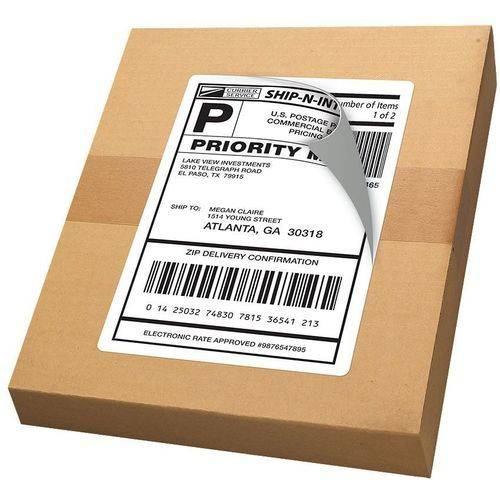 """Avery(R) Internet Shipping Labels with TrueBlock(R) Technology 18126, 5-1/2"""" x 8-1/2"""", Pack of 20"""