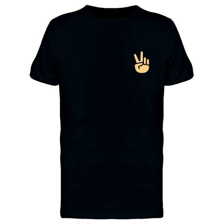 Peace Hand Pocket Doodle Tee Men's -Image by Shutterstock