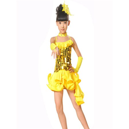Toddler Kids Girls Latin Ballet Dress Party Dancewear Ballroom Dance Costumes - Ballroom Dancer Costume