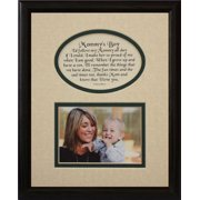8X10 Mommy's Boy Picture & Poetry Photo Gift Frame ~ Cream/Hunter Green Mat With Black Frame ~ Heartfelt Keepsake Picture Frame For Mom From Her Little Boy On Mother's Day, Christmas