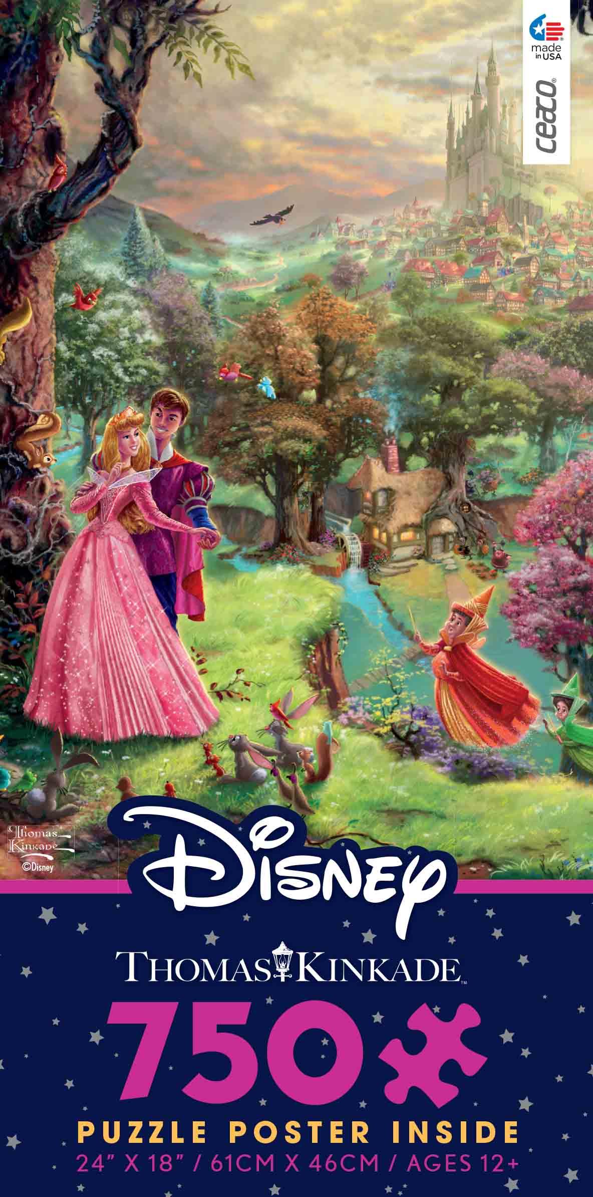 Disney Thomas Kinkade Sleeping Beauty Puzzle 750 Pieces NEW