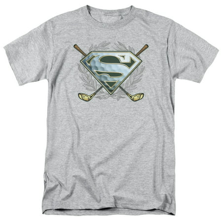 Superman/Fore!   S/S Adult 18/1   Heather     Sm1459