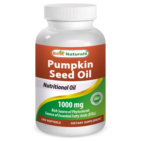 Best Naturals Pumpkin Seed Oil Softgels, 1000 Mg, 180 Ct