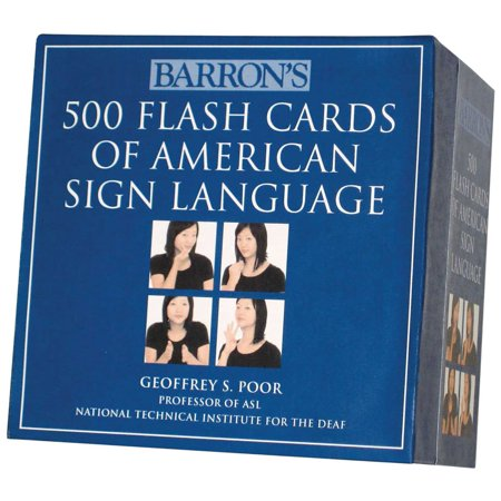 Barron's 500 Flash Cards of American Sign Language (Sign Language Worksheets)