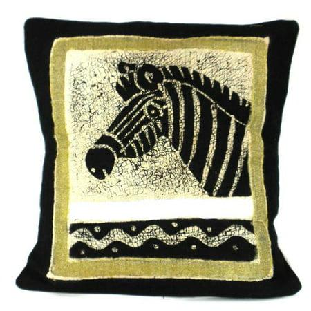 Handmade Black and White Zebra Batik Cushion Cover (Handmade Zebra)
