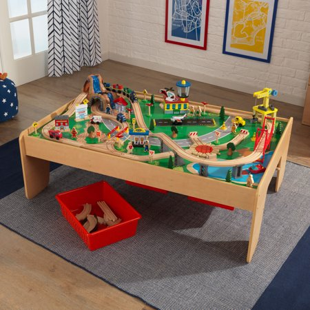 KidKraft Waterfall Mountain Train Set & Table with 120 accessories