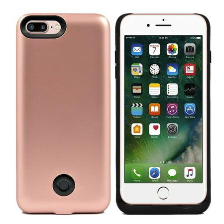 online store d6d48 1c7c9 iPhone 7 Plus Battery Case, 9000mAh Protable Rechargeable Extended Charging  Backup Battery Case for iPhone 7 Plus 5.5 inch (rose gold)