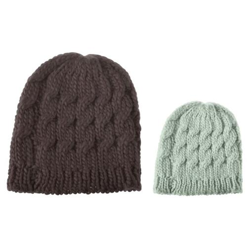 Beanie Hat for Men and Women by Zodaca - Brown and Light Gray- 2 Pack Bundle