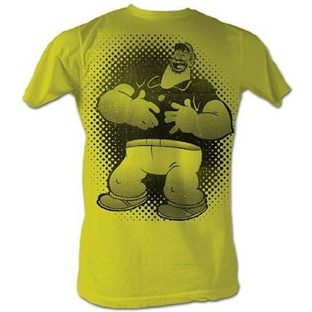Popeye the Sailor Man Brutus Bluto Laughing Adult Yellow T-shirt