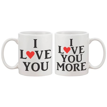 Halloween Anniversary Gifts (I Love You Matching Coffee Mugs - Perfect Wedding, Engagement, Anniversary, and Valentines Day Gift for)